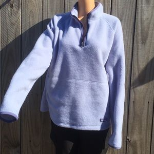 Patagonia woman's sweater size XL Light purple